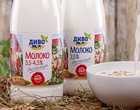 Divo. Milk packaging
