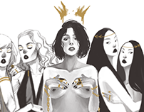 Ladies in Gold | Digital Illustration