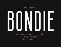 Bondie Condensed Sans Serif - Free Download