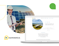 PV Napenergia website redesign