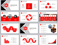 Best Red business introduction report PowerPoint templa
