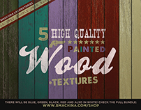 FREE HQ 5 Painted Wood Textures