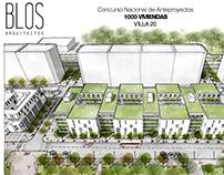Concurso Nacional Anteproyectos Viviendas  Villa 20
