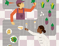 """The Future of Farm to Table"" Illustration"