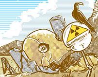 Beach Nuclear Illustration