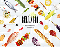 Un site design pour le restaurant Bellagio.