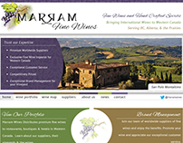 Responsive Web Design for Marram Fine Wines (2012)