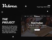 Veloce Italian Cafe & Restaurant - Branding Web Design.