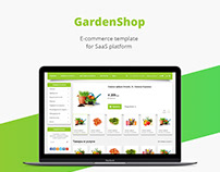 Garden shop/E-commerce template/Web design/UI/UX