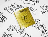 // Cover work et typographie pour Paulette #Karma //