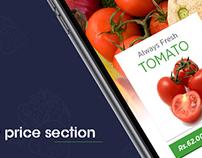 UX Design for Fruit & Vag Store.
