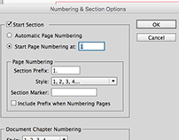 Preflight & Object Styles. Numbering & Sections.