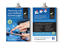 Stagg House Media logo and leaflet design