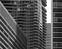 Chicago - B&W Long View