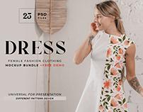White dress mockup bundle