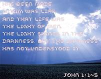 John 1:1~5 typography poster