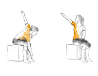 Illustrationen für Rückenübungen