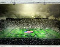 "FieldTurf: 24x36"" Print of Notre Dame Stadium"