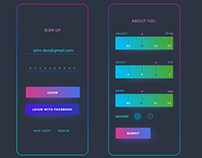 Daily UI Design - Sign up and Measurement