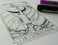 The Hanged Man (el colgado)   Ilustracion esotérica