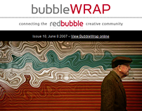 Redbubble Email Newsletter and Web Content