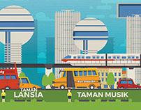 Bandung Public Service Ad Illustration