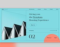Landing Page for Construction Website