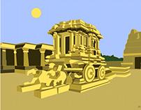 Illustrations_Hampi Famous symbols of Karnataka Tourism