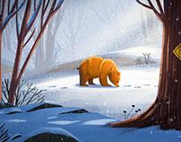 Bear sniffing