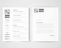 Free Minimalistic Resume & Cover Letter Template