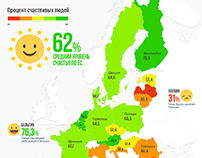 В каких странах ЕС живут самые счастливые люди