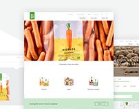 AUGA organic food website