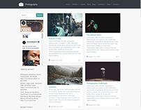 Masonry - Left Sidebar - Photography WordPress Theme