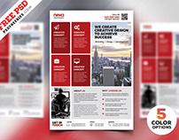 Corporate Modern Flyer Template Free PSD Set
