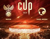World Cup artwork - Russia x Saudi Arabia