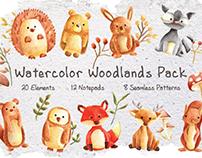 Watercolor Woodlands Pack