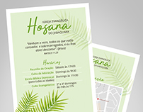 Flyer and card for Hosana Church