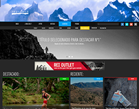 Trailchile Web design mockup