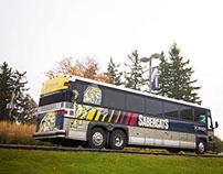 Sabercat Bus Wrap