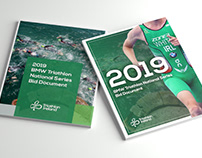Event Brochure Design Outdoor Sports Triathlon