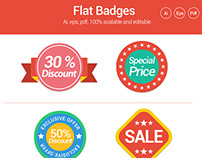 10 Flat Badges for E-commerce