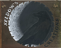Black Crow Seldow's Creations- wooden sign