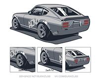 Illustration Datsun 280Z ADV1 for Japan Cars
