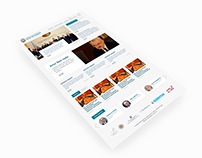 Web design concept for Cabinet of Azerbaijan