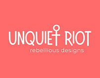 Unquiet Riot Design Branding and Product Images