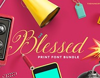The Blessed Print Font Bundle