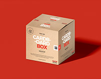Free Cardboard Box Packaging Mockup