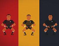 All Blacks rugby Haka animation