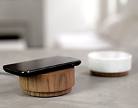 Orée Pebble - Charge your smartphone through wood