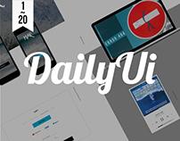 Daily UI 1 ~ 20